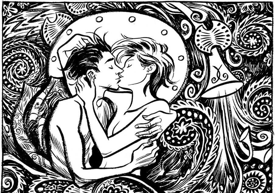 Fra tegneserieromanen Tepper av Craig Thompson