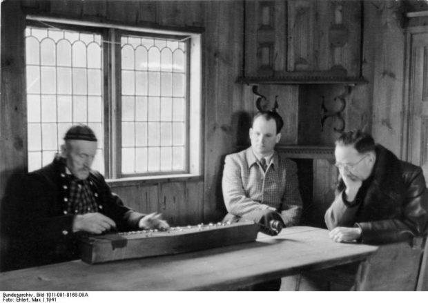 Norwegen, Heinrich Himmler und Musiker in Holzhaus