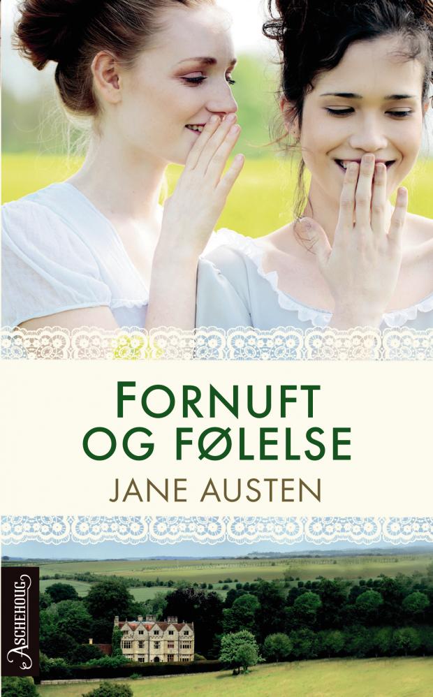 Bokcover: Fornuft og følelse av Jane Austen, Aschehoug forlag