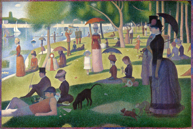 a sunday on la grande jatte georges seurat, 1884