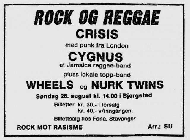 Rock og reggae plakat