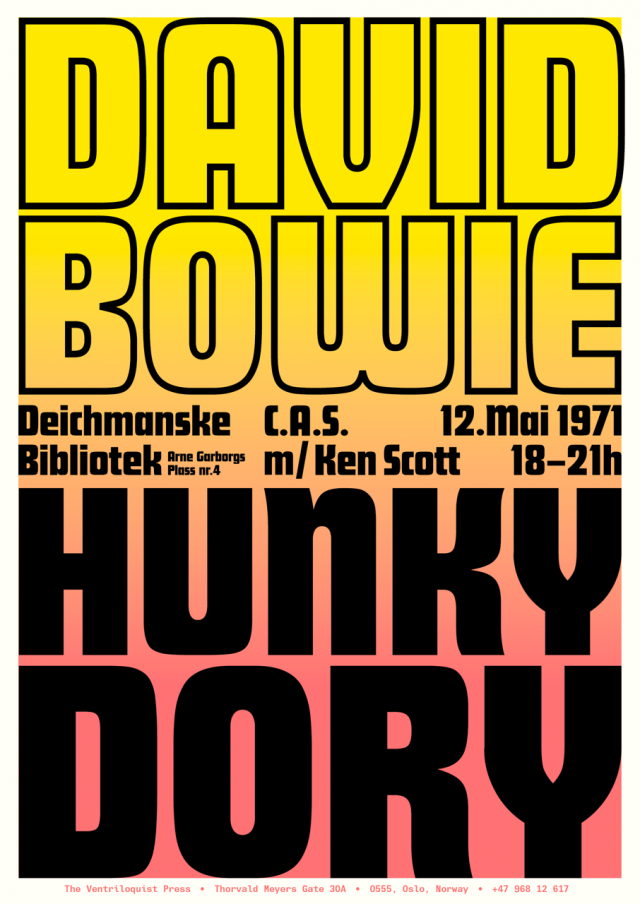 2016-05-12_CAS Oslo_David Bowie - Hunky Dory_poster