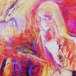 """Coveret til """"Ka e greiå?"""", som Julie har malt selv."""
